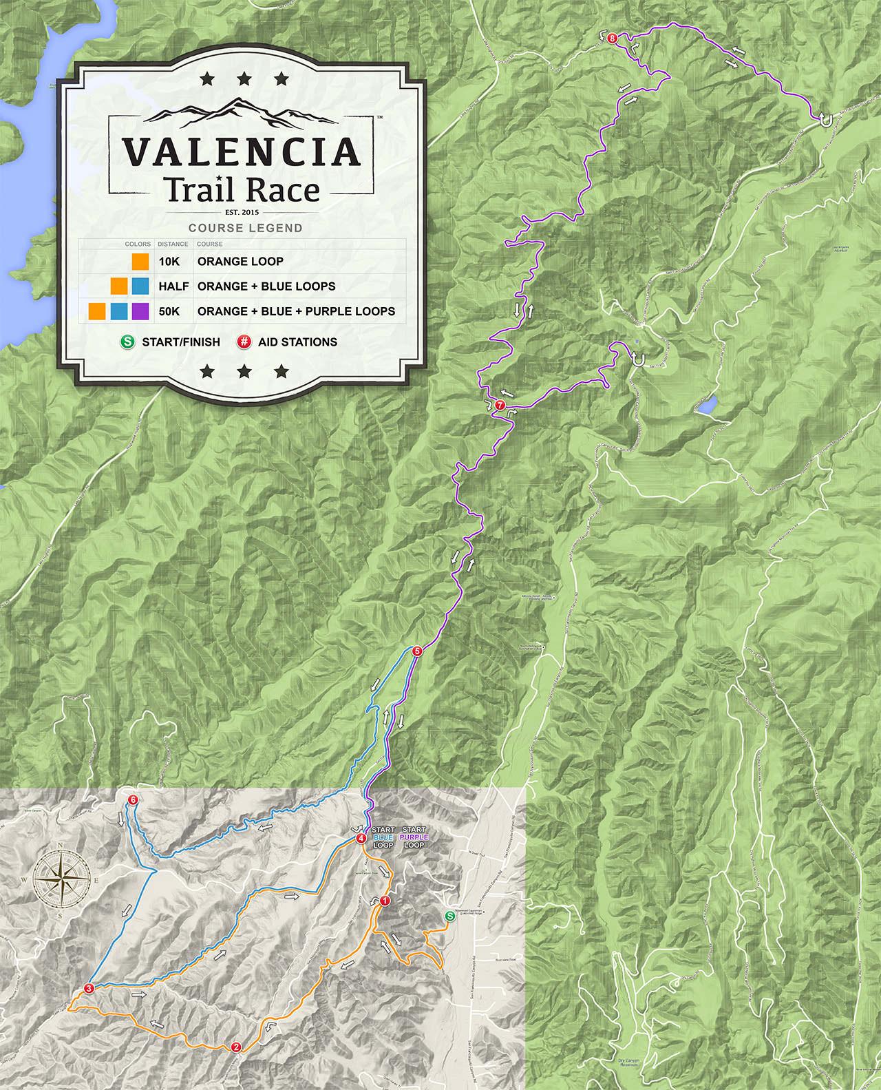 VALENCIA Trail Race - 50K Course